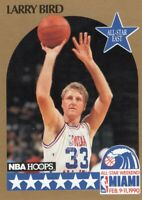 1990-91 NBA HOOPS BASKETBALL CARD # 2 - HOF LARRY BIRD - BOSTON CELTICS