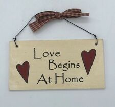 Rustic Love begins at home sign hanging home decor