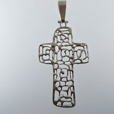 925 SILVER STERLING Cross PENDANT Jewelry (no nickel) Made in Poland #8