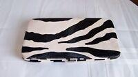 Vintage Zebra Look Clutch/Wallet -