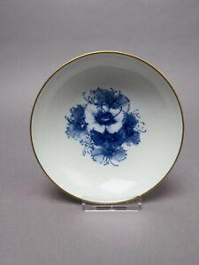 Meissen Schale Blaue Blume Aquatina Goldrand Dessertschale 15,0 cm Ø