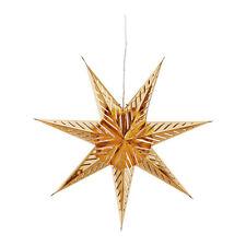 STELLA di Natale Lanterna 70 cm STRALA con 3 M Cavo ORO con apertura sui SIMBOLI