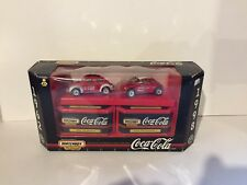 Matchbox Coca-Cola Collectibles 1962 VW Beetle and 1998 VW Concept 1 Car Set New