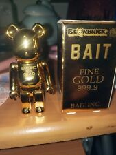 Medicom x BAIT Bearbrick 100% Gold Bar 999.9 Complexcon Be@rbrick Exclusive Rare