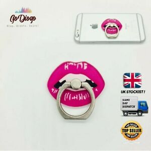 Funky Lips Mobile Phone Ring Holder Finger Grip Rotates 360 - SAME DAY DISPATCH
