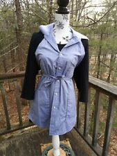 APRON MADE FROM MENS SHIRT HANDCRAFTED HOMEMADE Upcycled Blue Button Down