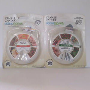 2 Factory Sealed Yankee Candle Scentstories Discs: Holiday Cheer, Give Thanks