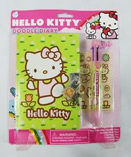 Hello Kitty Doodle Diary With Lock Multi Ink Pen Stickers Sealed 2010 NOS 5+