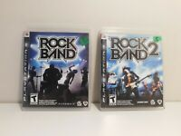 Rockband 1 and 2 PS3 Bundle Lot! Cleaned and Tested! OEM!