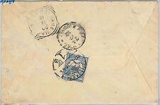 54515-UNGHERIA Croazia-STORIA POSTALE: Copertina da Fiume a Udine 1912