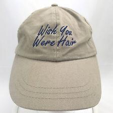 Wish You Were Hair Beige Baseball Cap Dad Hat Adjustable Strapback Head Shots