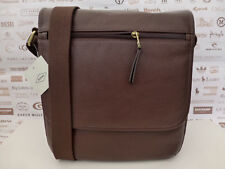 Fossil City Bag Trey Sml-med Shoulder Brown Leather Flight Body Bags RP