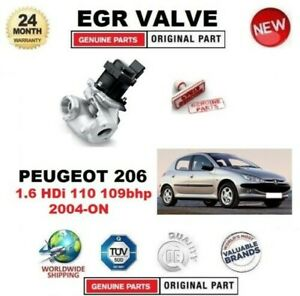 FOR PEUGEOT 206 1.6 HDi 110 109bhp 2004-ON EGR VALVE 5-PIN with GASKETS / SEALS