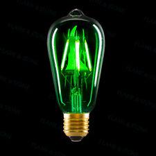 LED EDISON LIGHT BULB GREEN GLASS E26 E27 RETRO VINTAGE STEAMPUNK 3W ✔ FREE SHIP