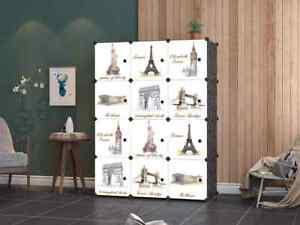 12 Cube DIY Cube Closet Wardrobe Modular Storage Organizer Clothes Shoe Bookcase