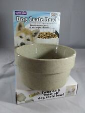 "5"" Happy Home Dog Crate Bowl Food/Water Mounts To Most Cages/Kennels Made in USA"