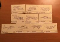 Stamps Canada Bk76 lot with 10 different booklet covers .See description.