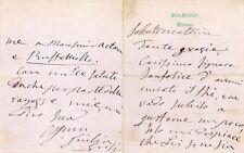Giulia Grisi - Italian soprano. 2 Letters + cdv. c1860s