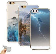 Etui/Coque iPhone 5/5s/SE/6/6s/6Plus Silicone Nature Orage Montagne Neige Forêt