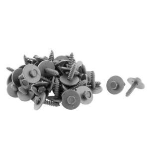 Metal Auto Car Screw Body Fender Bumper Retainer Clips 7mm Hex Fasteners 100Pcs