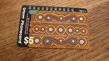 OLD AUSTRALIAN TELECOM PHONECARD, $5 ABORIGINAL ART