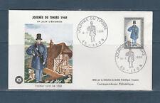 enveloppe  1er jour  journée du timbre  69 Lyon  1968