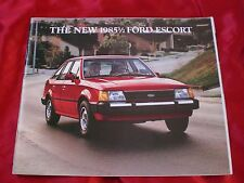 The New 1985 1/2 Ford Escort Sales Catalog