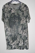 BALMAIN MILITARY GREEN TIGER T SHIRT (M) TAGS 2010 DECARNIN CAMOUFLAGE OVERSIZED