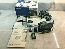 Sony Handycam Dcr-Dvd305 Camcorder w/ Battery, Charger, Mic, Manual