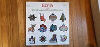 ELVIS Presley ELVIS SINGS THE WONDERFUL WORLD OF CHRISTMAS NM Vinyl LP NM Shrink