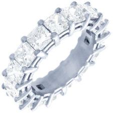 Alluring Vintage 8.00 Carat Princess cut Diamonds Eternity Bands 18K Gold