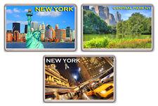 NEW YORK LOT OF 3 FRIDGE MAGNET SOUVENIR 3 IMANES NEVERA