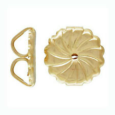 6x large premium Round Swirl Earring Backing 14k Gold filled nutz Clutch E31g