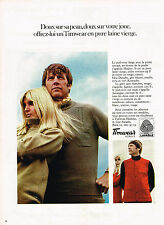 PUBLICITE  1969  TIMWEAR    pull-over homme