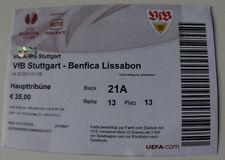 OLD TICKET EL VfB Stuttgart Germany Benfica Lisboa Portugal