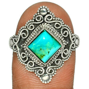 Filigree - Kingman - Blue Mohave Turquoise 925 Silver Ring s.10 BR107775