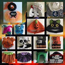 Spooktacular! Dog Cat Small Halloween Costumes Collars Hats NWOT