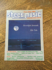 Sheet Music Magazine 1983 Back Issues Lot of 4 Piano Guitar Tablature Vintage