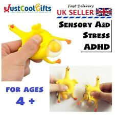 SQUEEZY CHICKEN EGG FIDGET KEY RING ANXIOUS STRESS RELIEF ADHD UK SELLER