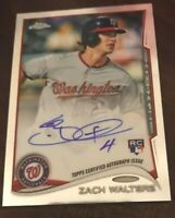 Zach Walters 2014 Topps Chrome Rookie On Card Auto RC Nationals Autograph NEW