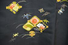 Vintage Japanese silk  Kimono  HAORI  from Japan 12-24