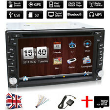 """6.2 """" Double 2 Din Bluetooth Touch Screen Car CD DVD Player GPS Nav Stereo Radio"""