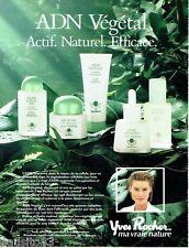 PUBLICITE ADVERTISING 116  1988  Yves Rocher  cremes cosmétiques ADN végétal