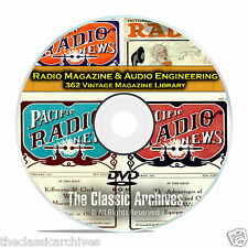 Radio Magazine & Audio Engineering, 362 Vintage Old Time Radio Magazines DVD B81