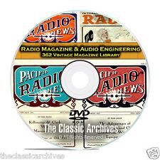 Radio Magazine & Audio Engineering, 362 Vintage Old Time Radio Magazines DVD B81