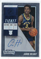 AARON HOLIDAY 2018-19 PANINI CONTENDERS PLAYOFF TICKET AUTO AUTOGRAPH RC #/65