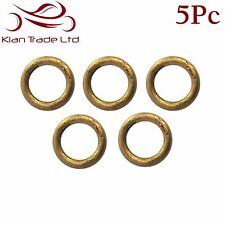 5PC X 10MM BRASS WELDED RINGS O-RING - LEATHER CRAFT STRAP BELT LANYARD BUCKLE