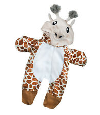 "Giraffe cozy fleece all in one pjs outfit teddy clothes fits 15"" Build a Bear"
