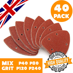 40 Mouse Sanding Sheets 140mm Palm Sander Sandpaper Detailed Sanding Mixed Grit