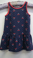 H&M Navy Sundress with Cherries on age 12 months